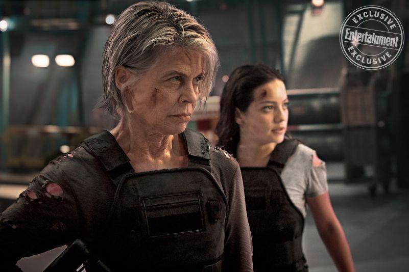 O Exterminador do Futuro - Destino Sombrio - Linda Hamilton e Natalia Reyes