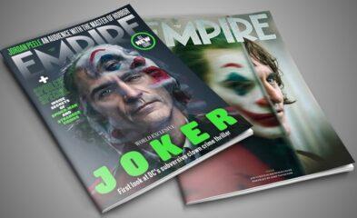 Joaquin Phoenix como Coringa na capa da Revista Empire