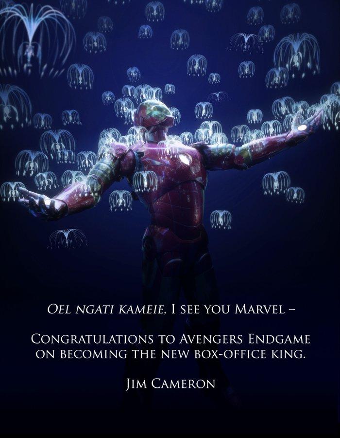 Oel ngati kameie. Eu vejo vocês, Marvel. Parabéns a Vingadores: Ultimato por se tornar o novo rei da bilheteria