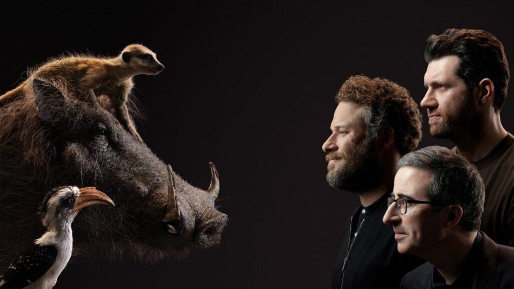 O Rei Leão - John Oliver - Zazu, Seth Rogen - Pumba, Billy Eichner - Timão