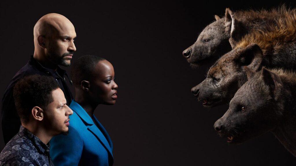 Keegan-Michael Key (Kamari), Florence Kasumba (Shenzi) e Eric André (Azizi)
