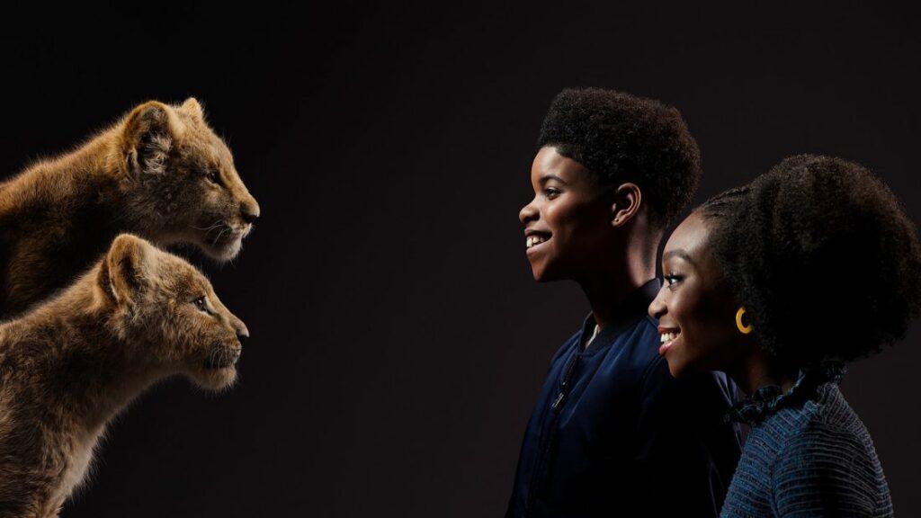 O Rei Leão - Shahadi Wright Joseph - Nala jovem e JD McCrary - Simba jovem