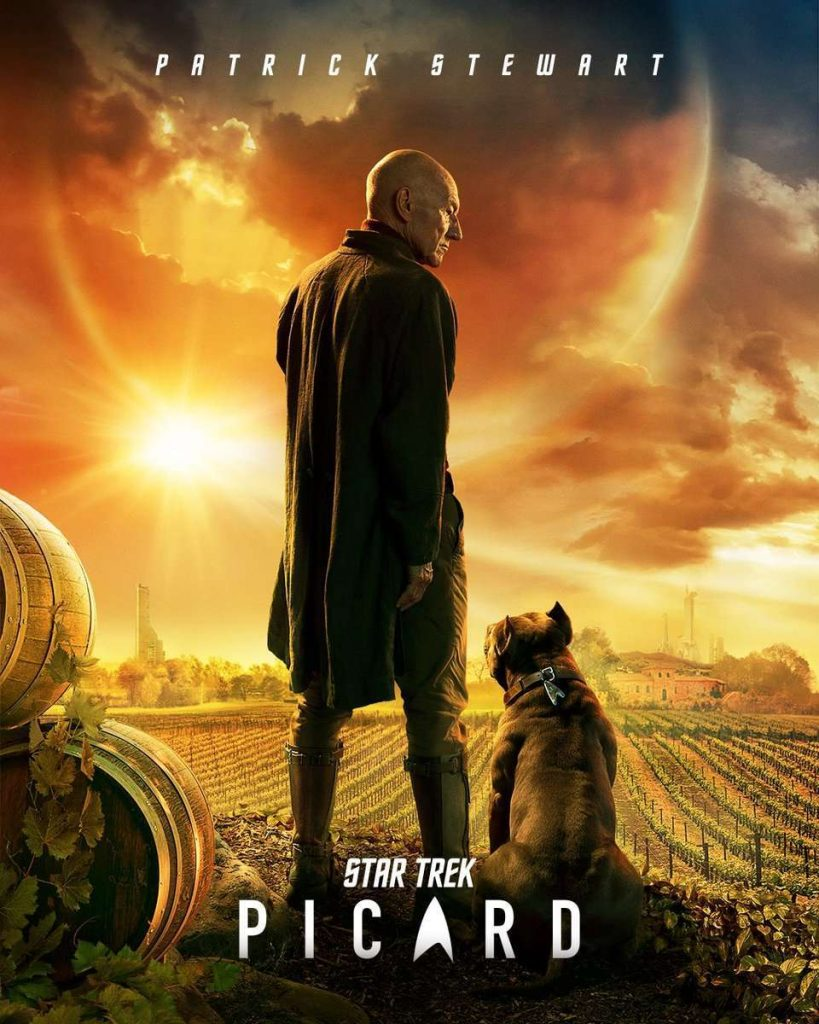 star trek picard poster 819x1024 - Star Trek: Picard | Patrick Stewart no poster da nova série da Amazon