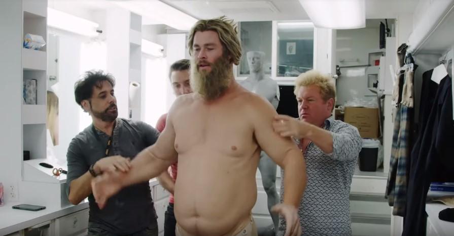 Vingadores Ultimato | Chris Hemsworth virando Bro Thor em cena bônus