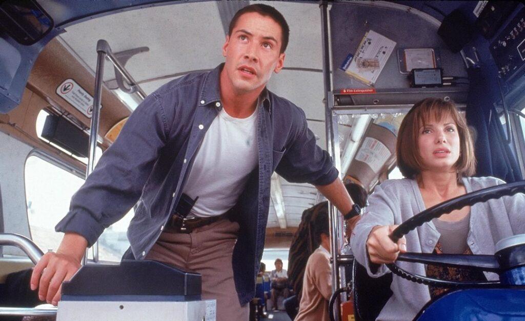 Keanu Reeves e Bullock em Velocidade Máxima