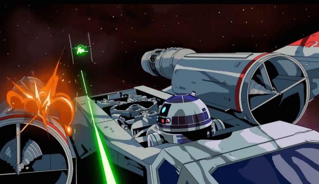 TIE Fighter - animação Star Wars de Paul Johnson