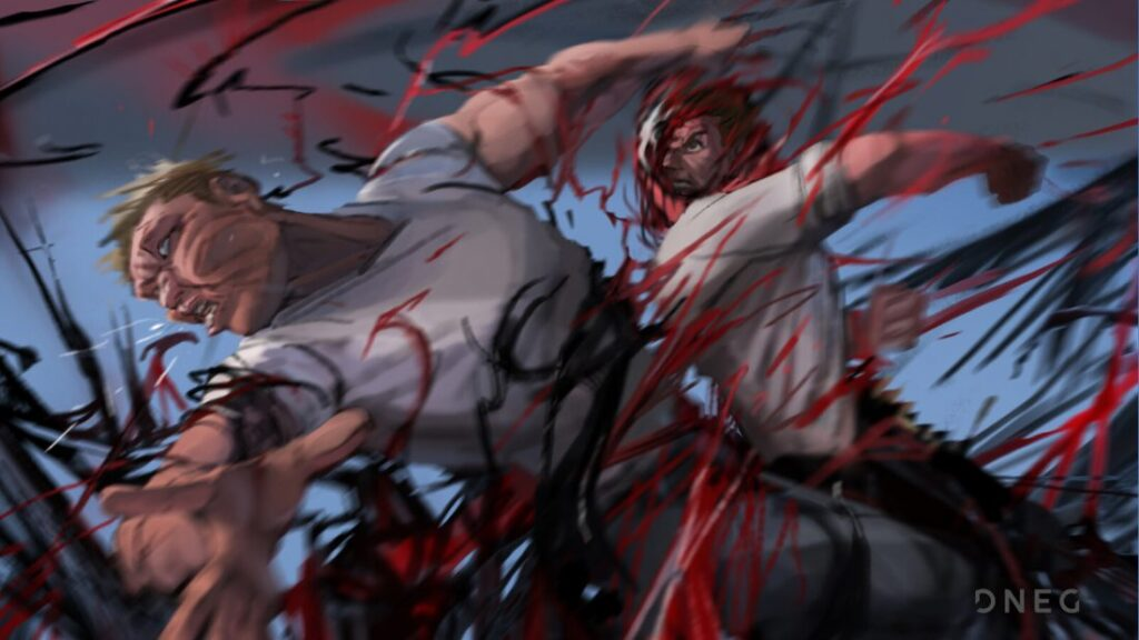 Arte conceitual de Paolo Giandoso para batalha entre Venom e Carnificina - Eddie Brock e Cletus Kassady