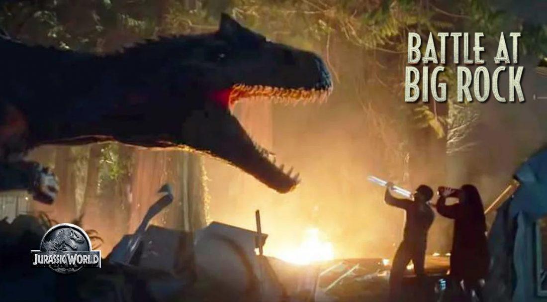 Battle at Big Rock   Curta de Jurassic World é lançado e os dinossauros estão soltos entre os humanos