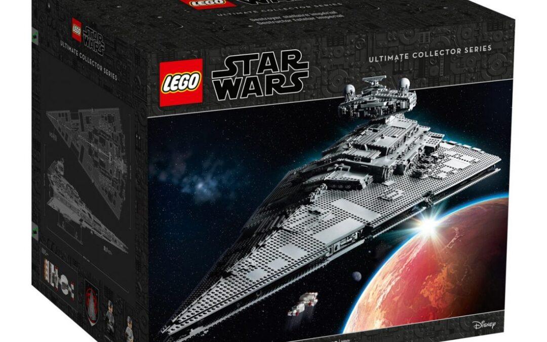 Star Wars   Star Destroyer Imperial feito com 4.784 peças Lego