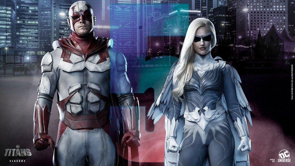 Titans Segunda Temporada: Novos pôsteres de personagens - Rapina e Columba