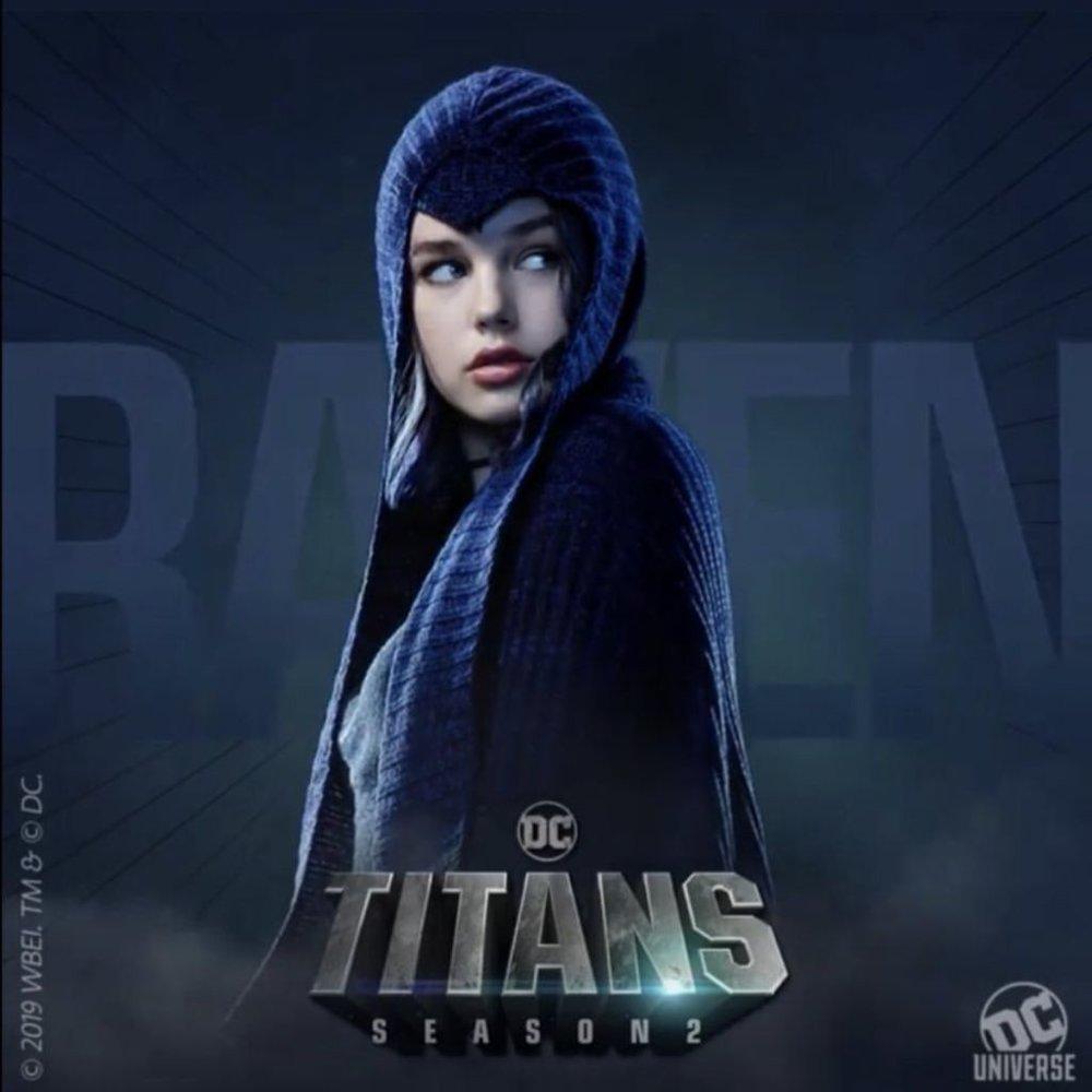 Titans Segunda Temporada: Novos pôsteres de personagens - Ravena