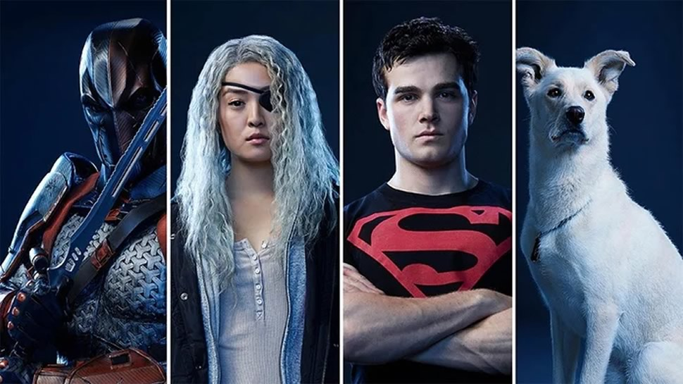 Titans - Exterminador - Rose Wilson - Superboy - Krypto