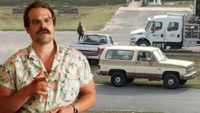 Stranger Things 4 | Carro de Hopper é visto no set de filmagens