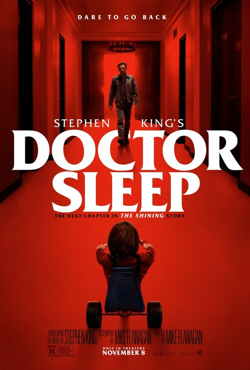 Doutor Sono poster referência a O Iluminado de Stephen Kings