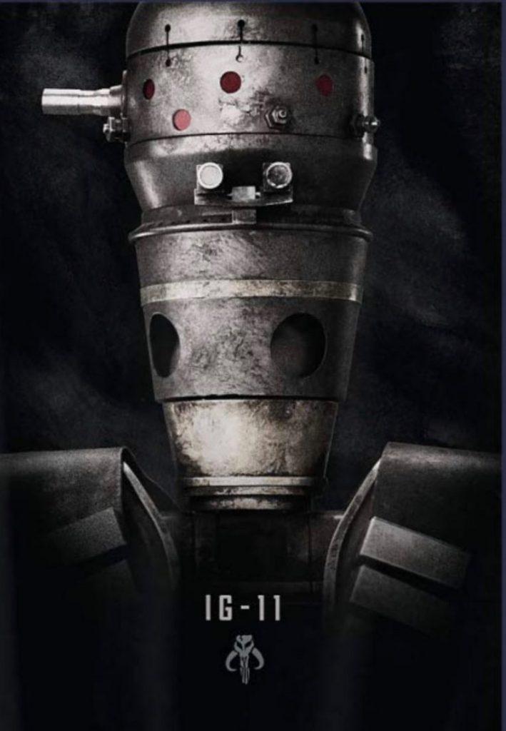 Disney revela novo poster da série The Mandalorian - IG-11