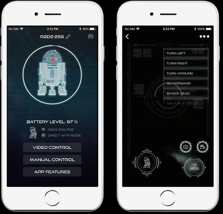phone app r2d2 tela1 - Construa seu próprio R2-D2 de Star Wars