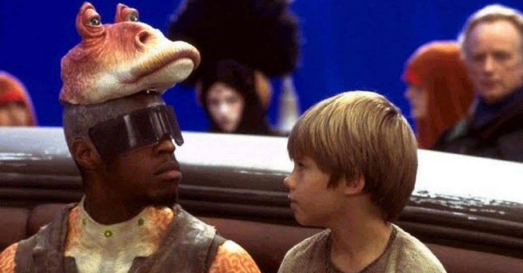 Ahmed Best interpretando Jar Jar Binks 1024x536 - Jar Jar Binks pode ter participação na série OBI-WAN KENOBI da Lucasfilm