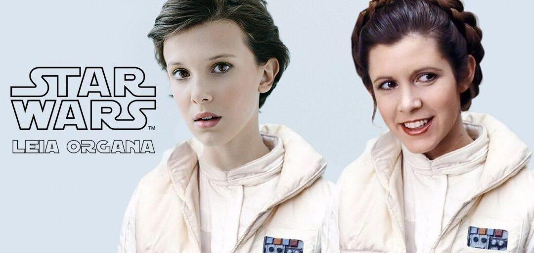 Millie Bobby Brown, a Eleven de Stranger Things, está cotada para interpretar a jovem Princesa Leia na série de Star Wars