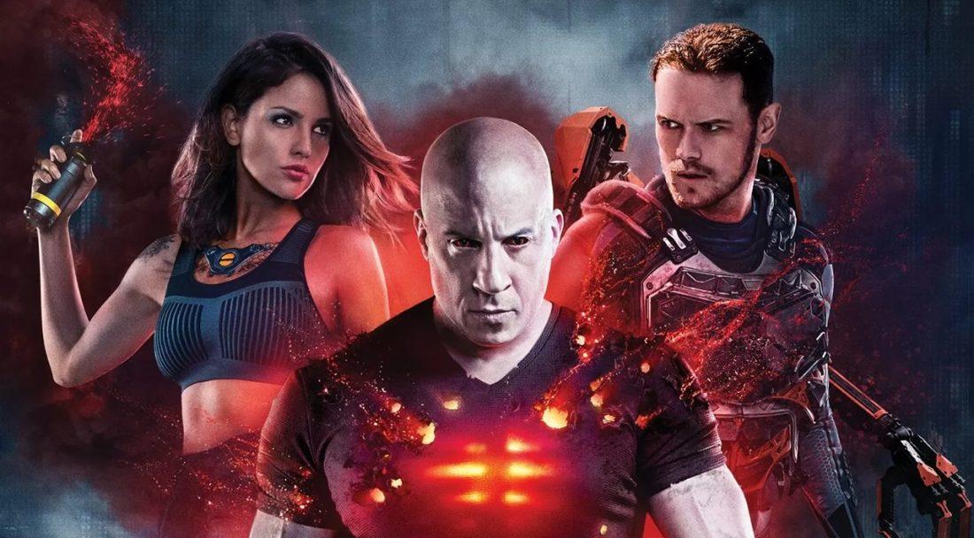 Bloodshot - Vin Diesel com elenco em poster do filme