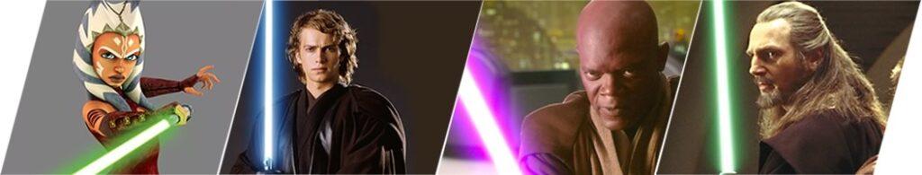 Vozes de Rey: Ahsoka Tano - Anakin Skywalker - Mace Windu - Qui-Gon Jinn