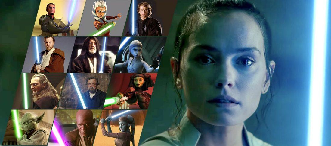 STAR WARS: A Ascensão Skywalker | As vozes dos Jedi que Rey ouve na batalha final contra o Imperador Palpatine