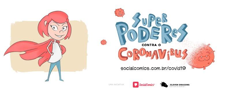 Social Comics publica HQ - Superpoderes contra o coronavírus