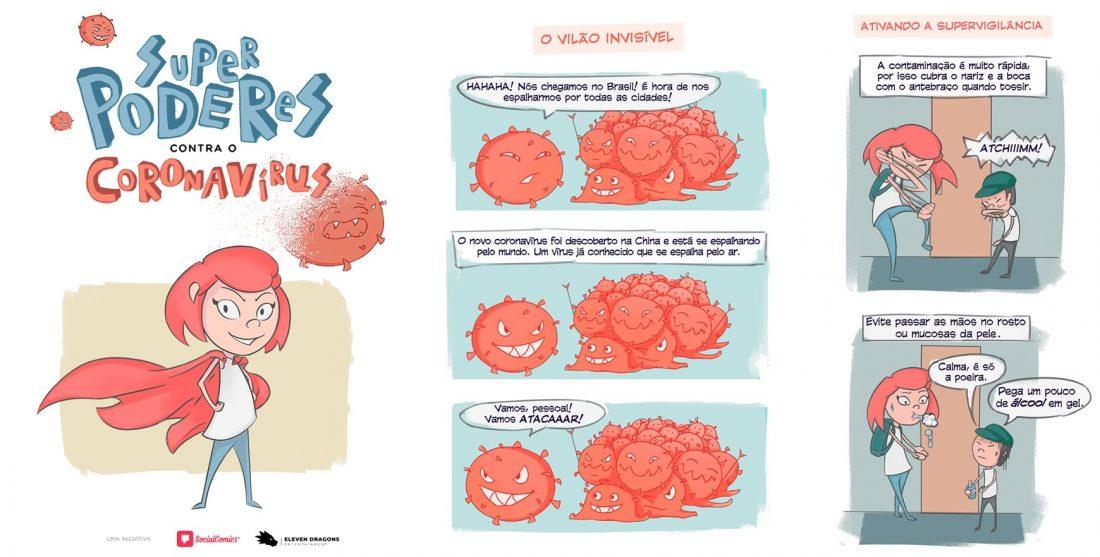 Social Comics publica HQ que ensina como se prevenir do Coronavírus