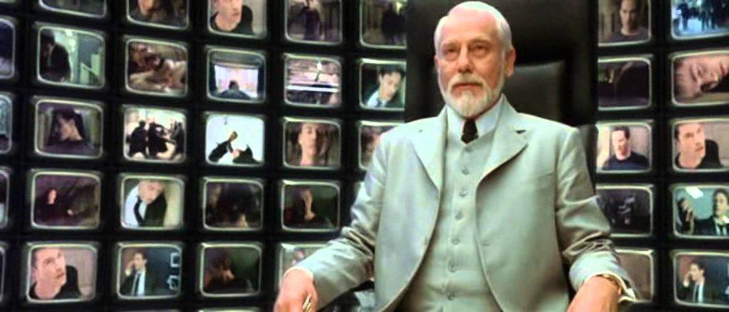 Supernatural fazendo referência a Matrix 2 a cena do Arquiteto