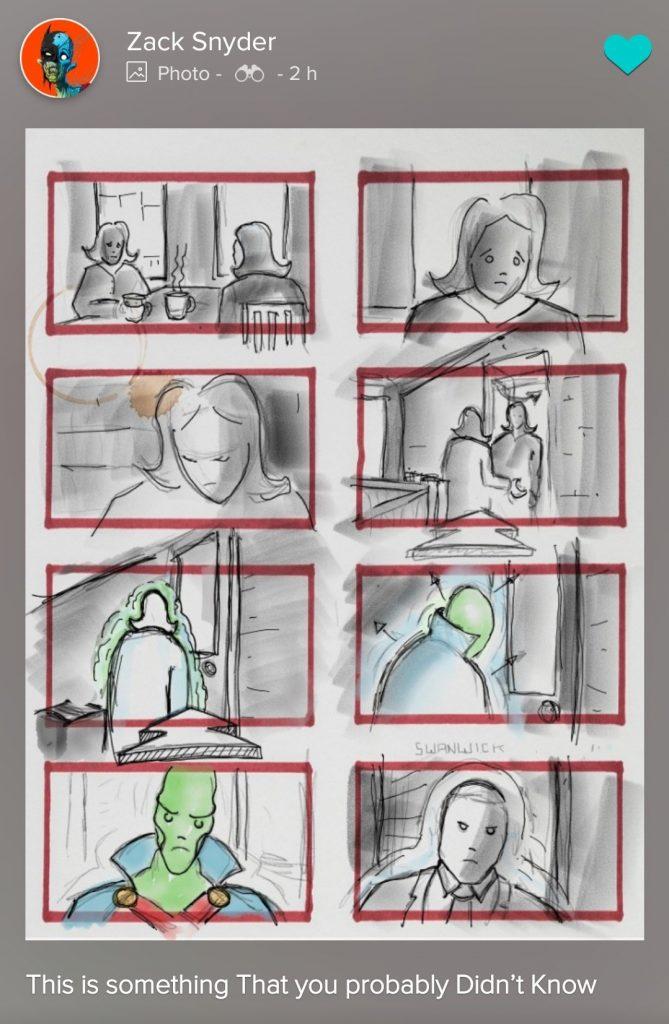 Harry Lennix - Caçador de Marte - Storyboard de Homem de Aço