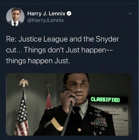 Harry Lennix - Caçador de Marte em o Homem de Aço e Batman v Superman