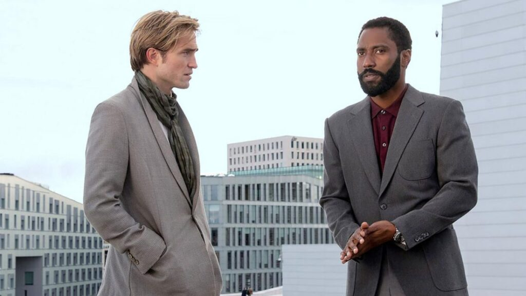 TENET filme de Christopher Nolan com Robert Pattinson e John David Washington