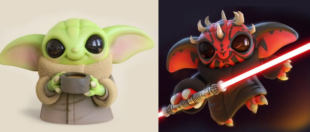 O artista Chris Bobinski cria versões fofas de Baby Yoda e Baby Maul