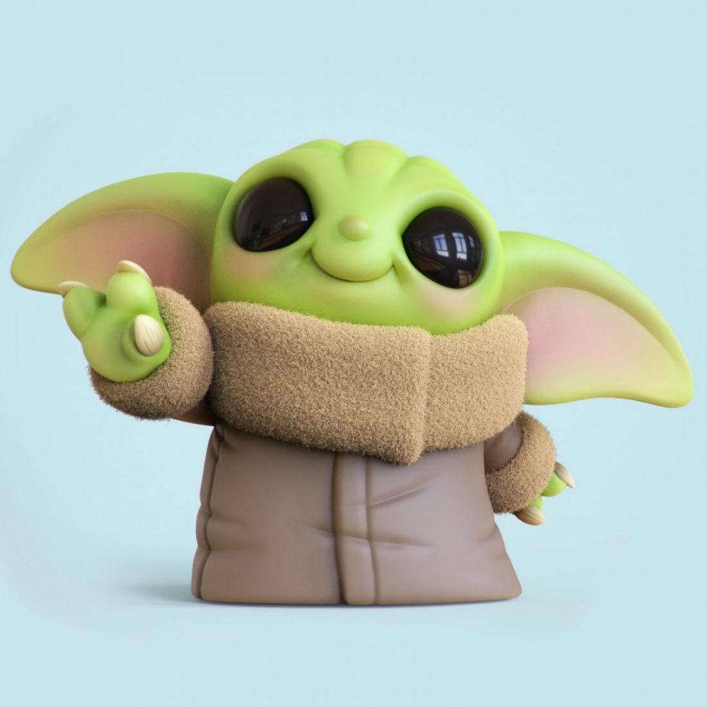 Chris Bobinski Baby Yoda 1 1024x1024 - O artista Chris Bobinski cria versões fofas de Baby Yoda e Baby Maul
