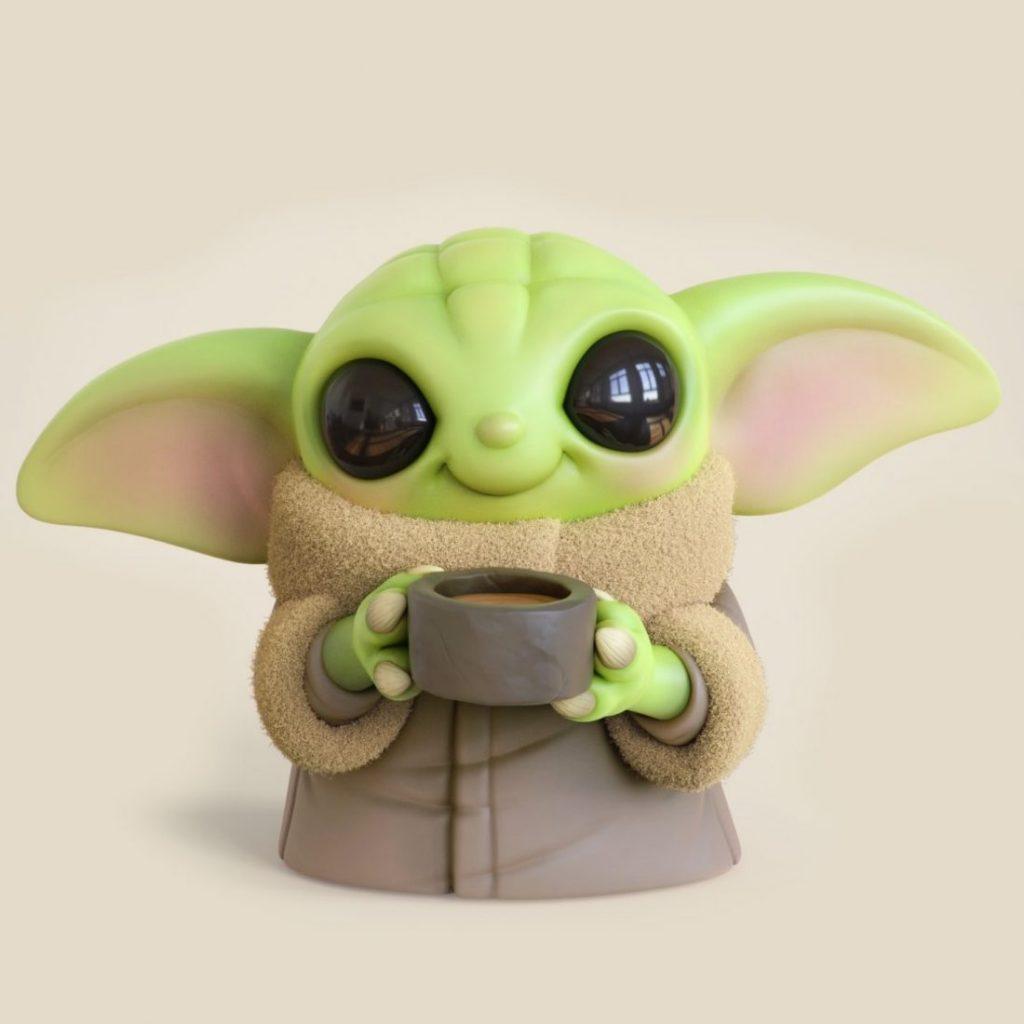 Chris Bobinski Baby Yoda 2 1024x1024 - O artista Chris Bobinski cria versões fofas de Baby Yoda e Baby Maul