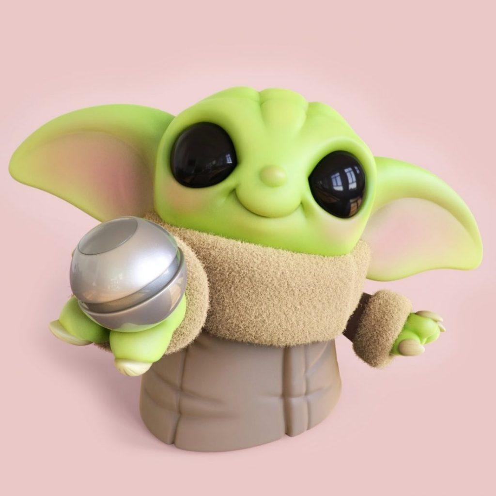 Chris Bobinski Baby Yoda 3 1024x1024 - O artista Chris Bobinski cria versões fofas de Baby Yoda e Baby Maul