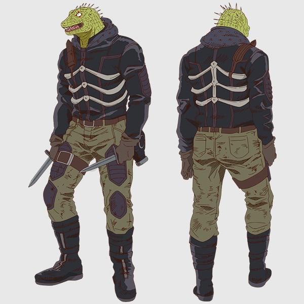 Caiman, um homem amnésico cuja cabeça foi magicamente transformada na cabeça de um lagarto