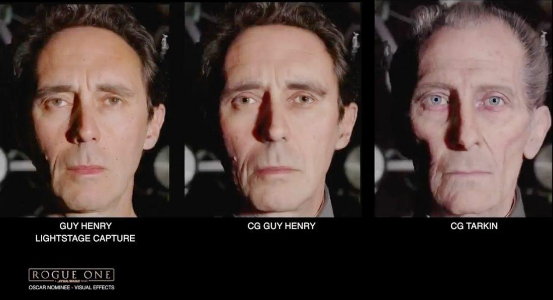 """Rogue One - Governador Tarkin, foi """"recriado"""" digitalmente seu rosto no ator Guy Henry"""