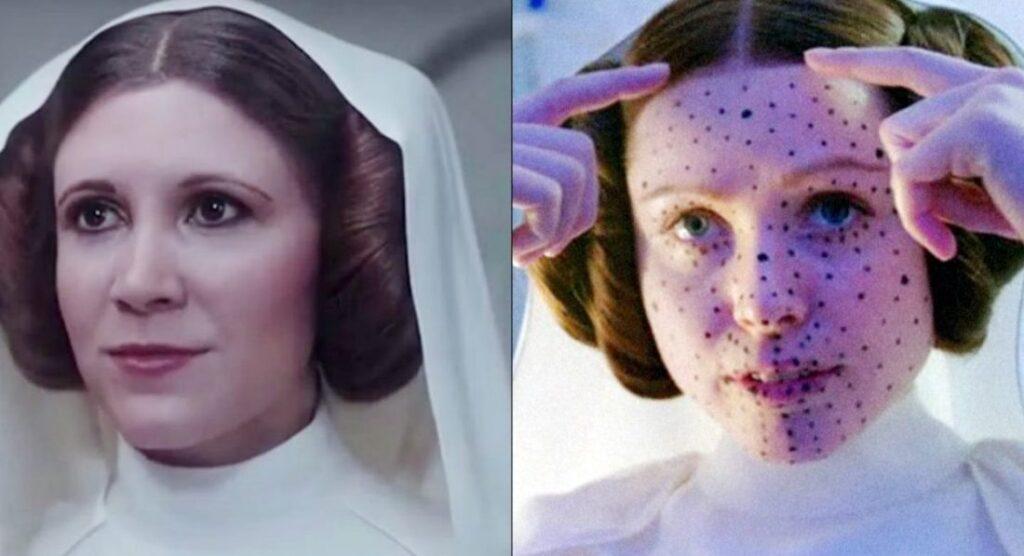 Rogue One - Princesa Leia recriada digitalmente seu rosto na atriz Ingvild Deila