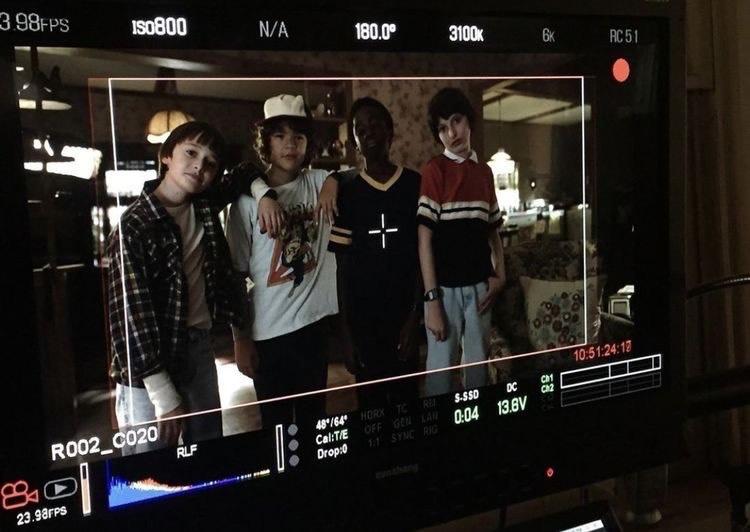 Stranger Things | Imagen de backstage - Os garotos