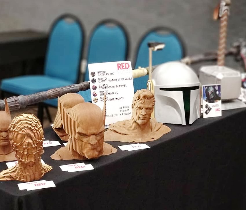 red studios bustos capacete boba fet - RED STUDIOS - Cosplay e Acessórios