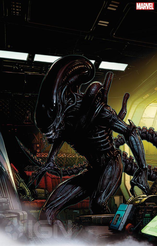 Alien em Guardiões da Galaxia - arte de David Finch - Marvel