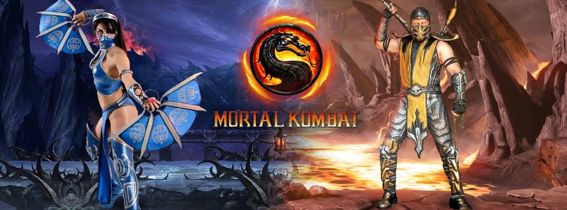backgtound mk - Mortal Kombat - Cosplayers Josi e André