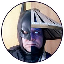 icone raiden batman cosplay - Altevir Frank Batman de Curitiba - Cosplayer