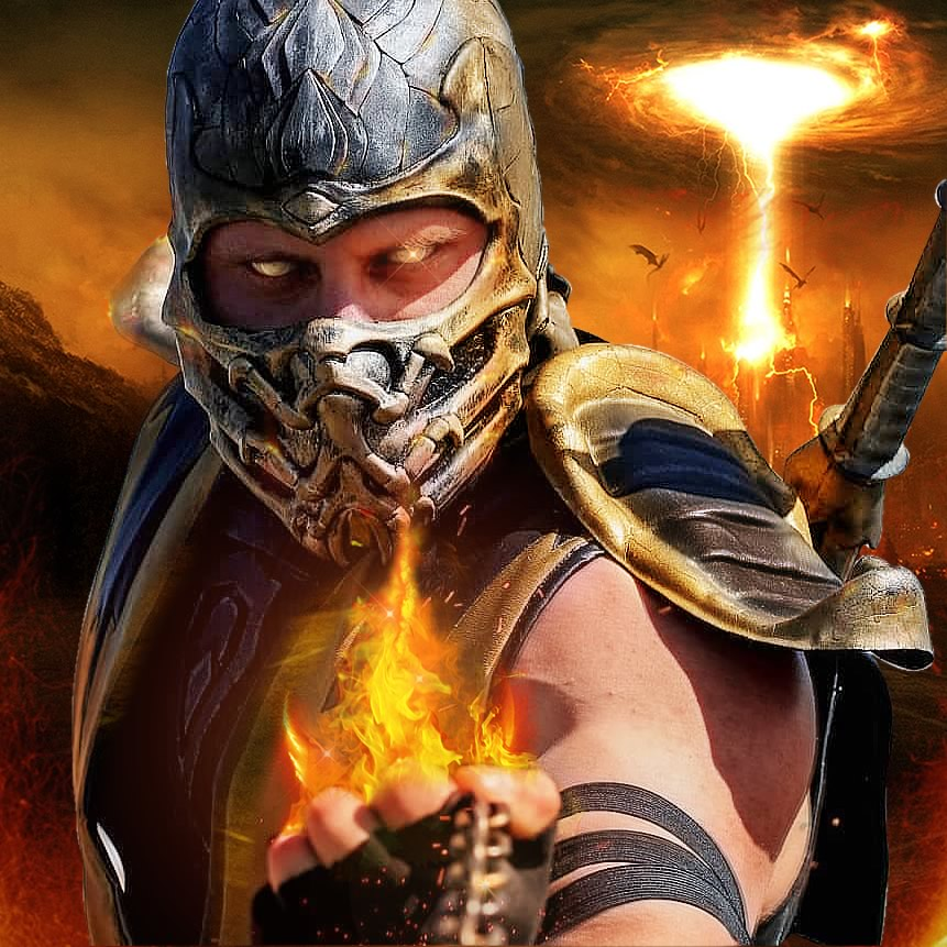 mk scorpion2 - Mortal Kombat - Cosplayers Josi e André