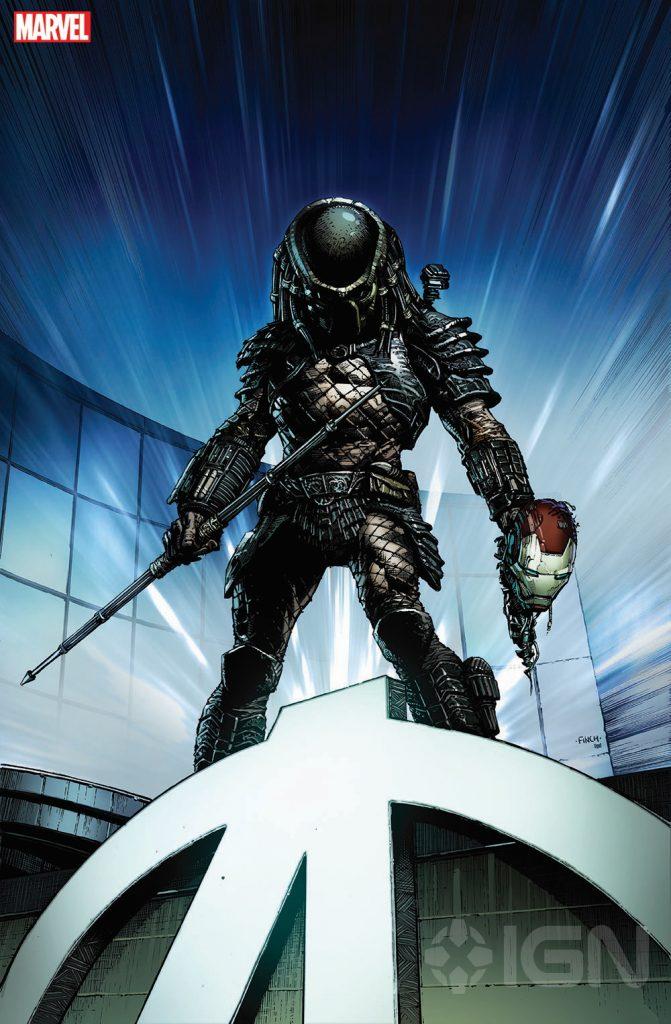 Predador vs Homem de Ferro - arte de David Finch - Marvel