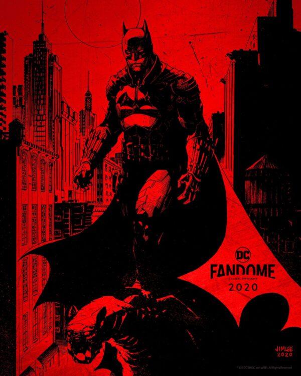 cartaz jim lee para the batman com robert pattison 600x750 - BATMAN com Robert Pattinson tem teaser revelado na DC FANDOME