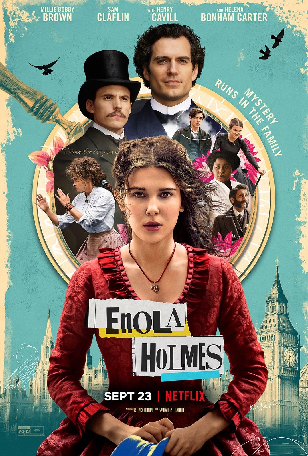 Enola Holmes com Millie Bobby Brown tem Trailer dublado pela Netflix