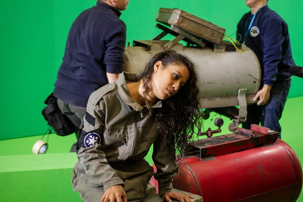 Esquadrão 51 - Jogo brasileiro - making-of - atriz Kaya Rodrigues