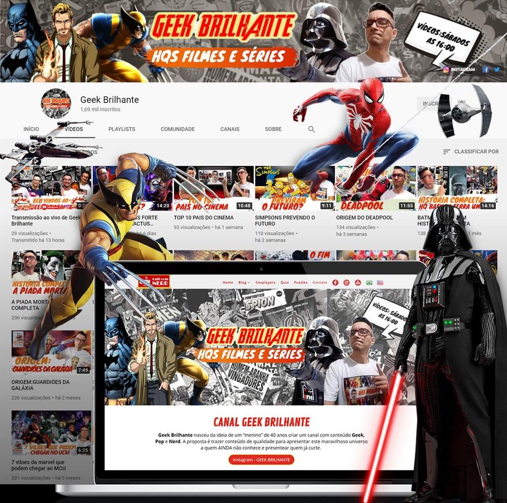 geek brilhante conteudo geek pop nerd canal - Geek Brilhante canal com conteúdo Geek, Pop e Nerd