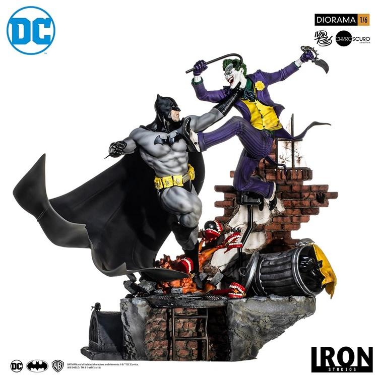inimigo meu iron studios diorama de batman vs joker 1 - Inimigo Meu: Iron Studios lança estátua de Batman vs. Joker!